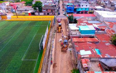 Pavimentación de la secciones A y D de la col. Santa Sofía