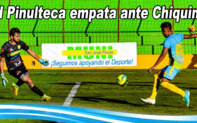 Juventud Pinulteca empata 1 – 1 ante Deportivo Chiquimulilla