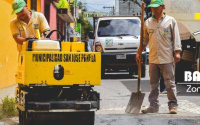 Municipalidad inicia plan bacheo de las zonas 2 y 4.