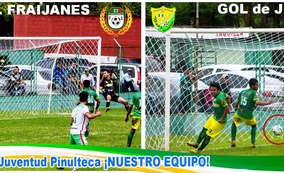 Juventud Pinulteca empata 1 a 1 con Deportivo Fraijanes