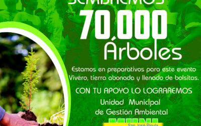 SEMBREMOS 70,000 ÁRBOLES en San José Pinula.